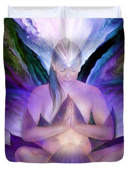 Third Eye Chakra Goddess Duvet Cover