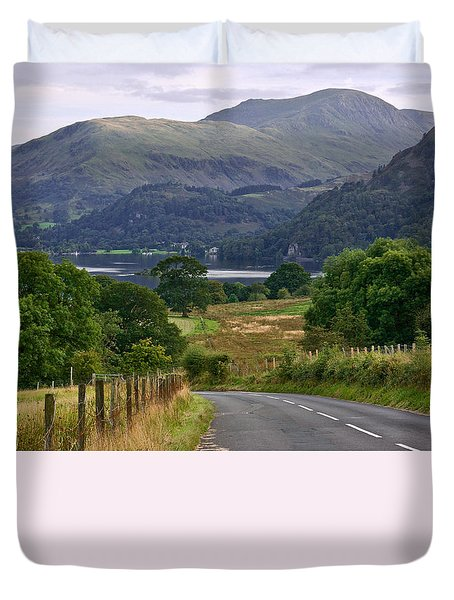 Duvet Cover featuring the photograph Thirlmere Lake District England by Jane McIlroy