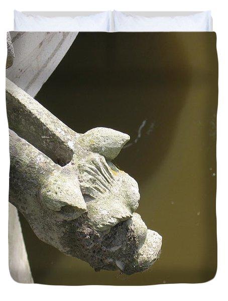 Thirsty Gargoyle Duvet Cover by HEVi FineArt