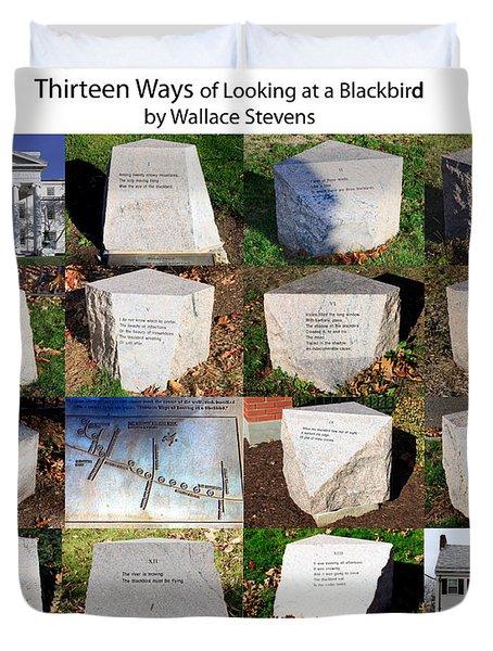 Thirteen Ways Of Looking At A Blackbird Duvet Cover