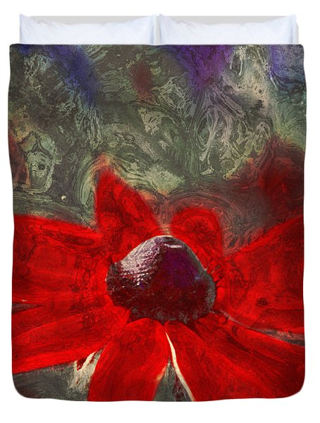 This Is Not Just Another Flower - Spr01 Duvet Cover by Variance Collections