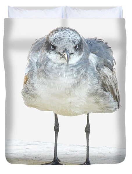 This Is Not My Happy Face Duvet Cover by Don Durfee