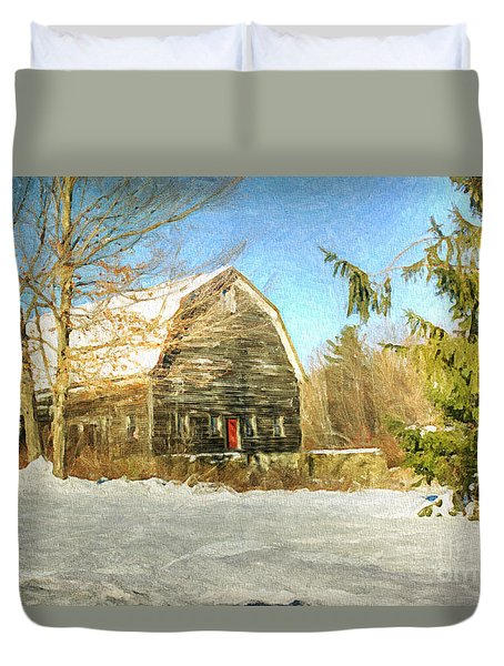 This Old Barn Duvet Cover by Tina  LeCour
