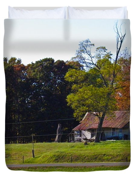 Duvet Cover featuring the photograph This Old House by Nick Kirby