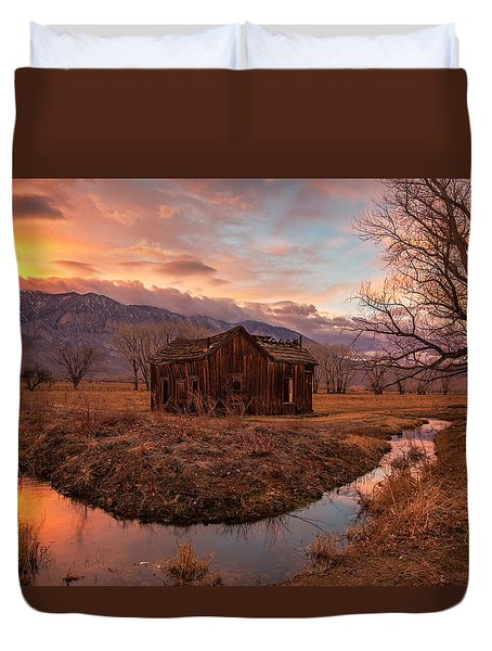 This Old House Duvet Cover by Tassanee Angiolillo