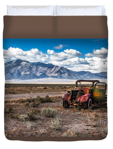 This Old Truck Duvet Cover by Robert Bales