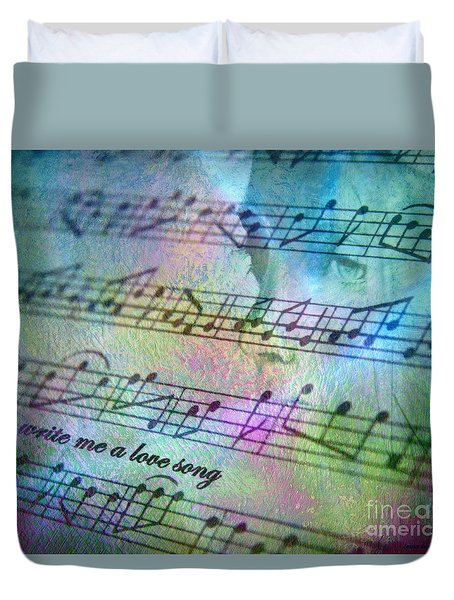 Duvet Cover featuring the photograph This Song's For You by Irma BACKELANT GALLERIES