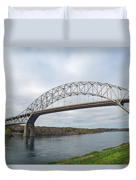 This Way To The Cape Duvet Cover by Barbara McDevitt