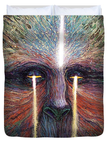 This World Weeps For A Spiritual Awakening Duvet Cover
