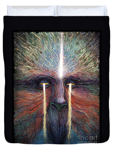 This World Weeps For A Spiritual Awakening Duvet Cover