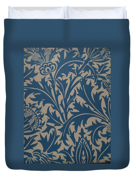 Thistle Design Duvet Cover by William Morris