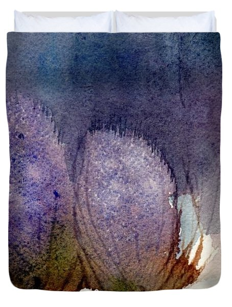 Duvet Cover featuring the painting Thistle Weather by Anne Duke