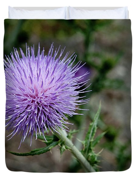 Duvet Cover featuring the photograph Thistle by Rod Wiens