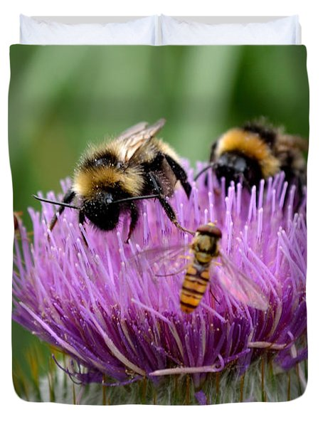 Thistle Wars Duvet Cover