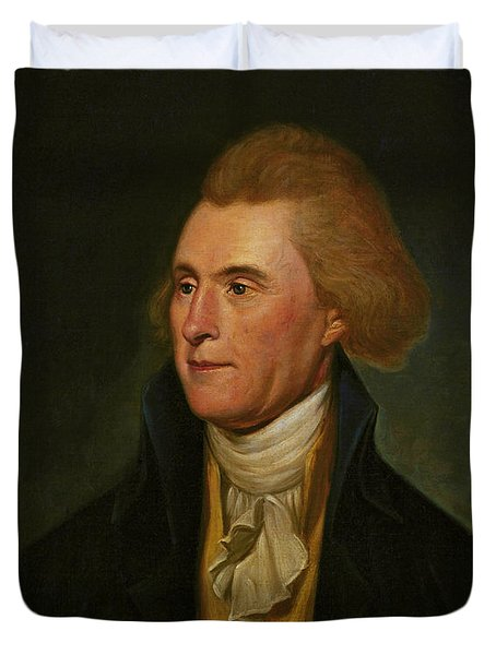 Thomas Jefferson Duvet Cover by Charles Wilson Peale