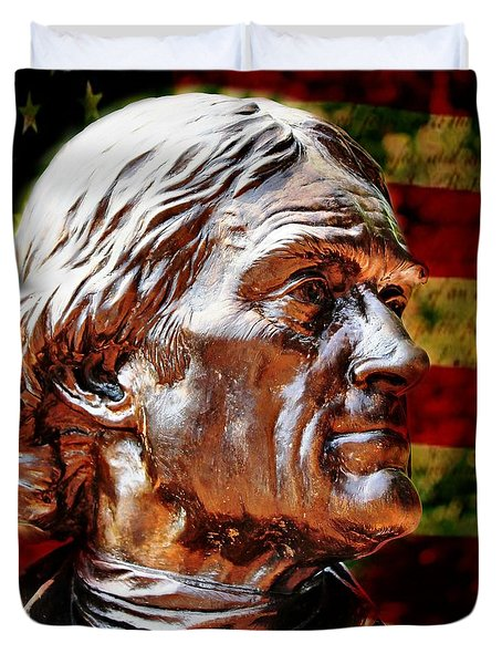Thomas Jefferson Statue  Duvet Cover