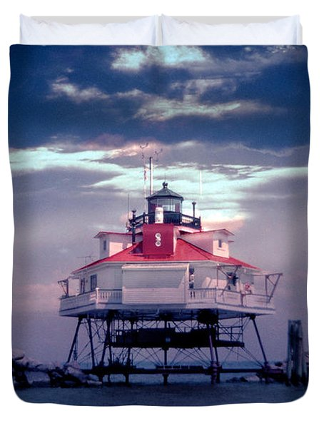 Thomas Point Shoal Lighthouse Duvet Cover