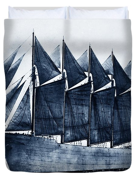 Thomas W. Lawson Seven-masted Schooner 1902 Duvet Cover