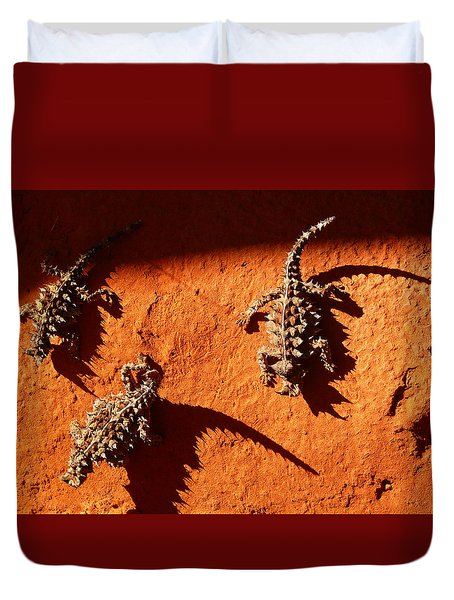 Thorny Devils Duvet Cover by Evelyn Tambour