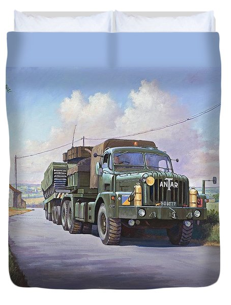 Thornycroft Antar. Duvet Cover by Mike  Jeffries