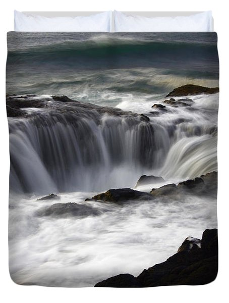 Thors Well Duvet Cover by Bob Christopher