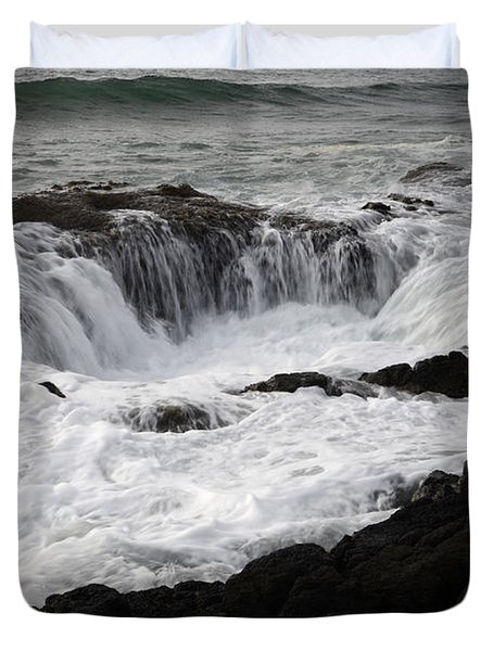 Thors Well Oregon Duvet Cover by Bob Christopher