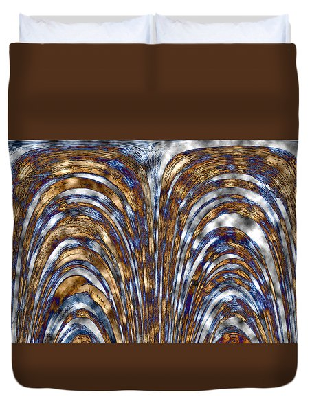 Those Golden Arches Duvet Cover by Carolyn Marshall