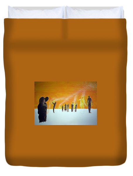 Those Who Left Early Duvet Cover by Lazaro Hurtado