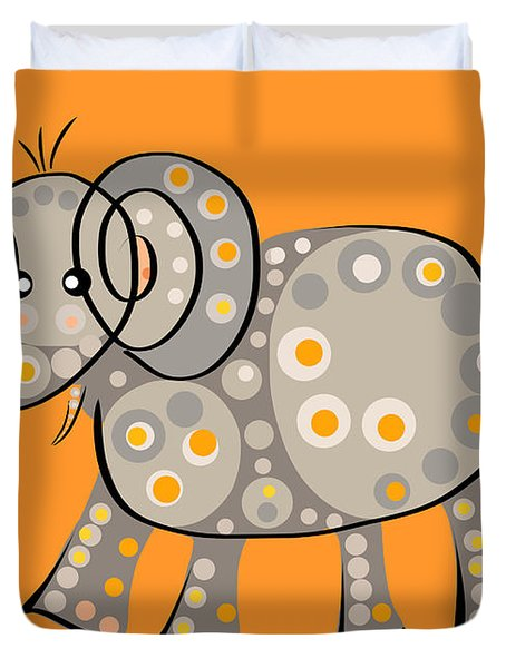 Thoughts And Colors Series Elephant Duvet Cover