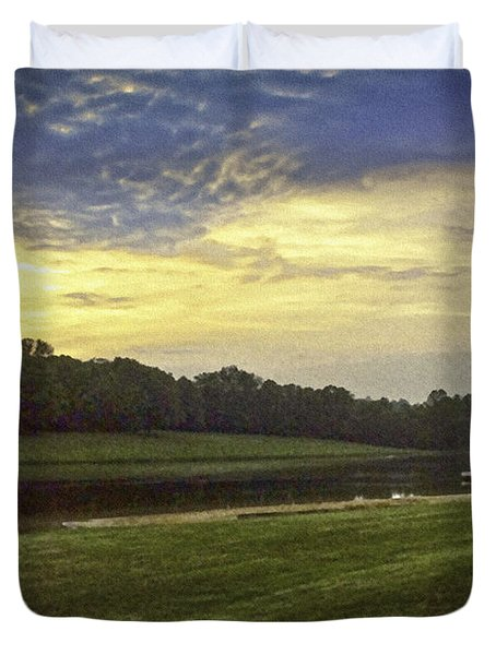 Thousand Trails Lynchburg Virginia Painting Duvet Cover by Bob and Nadine Johnston