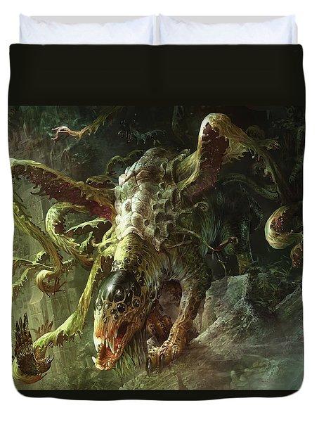Thrashing Mossdog Duvet Cover by Ryan Barger