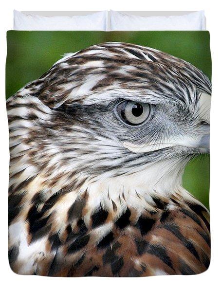 The Threat Of A Predator Hawk Duvet Cover