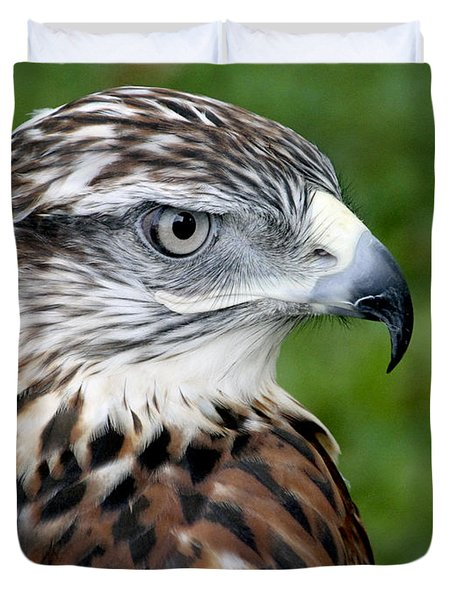 The Threat Of A Predator Hawk Duvet Cover