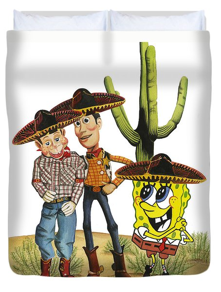 Three Amigos Duvet Cover