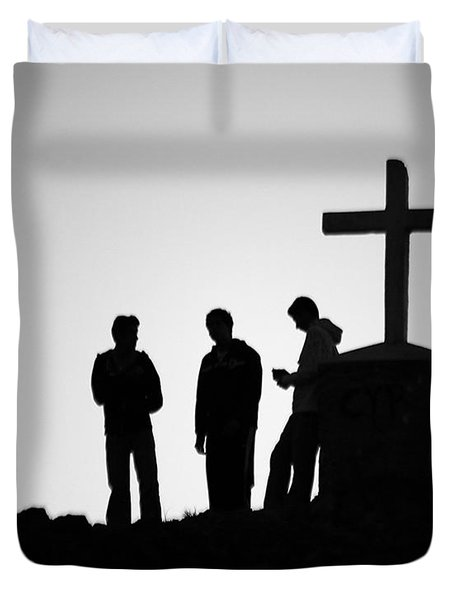 Three At The Cross Duvet Cover