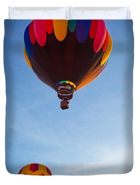 Three Balloons Duvet Cover by Inge Johnsson