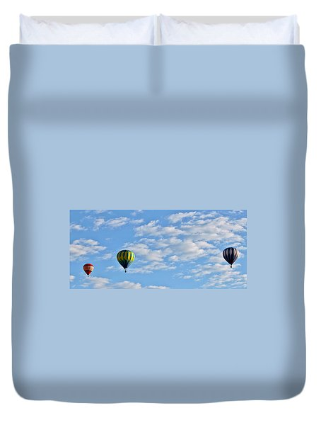 Three Beautiful Balloons In Cortez Duvet Cover