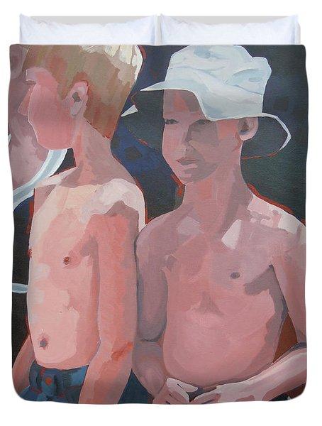 Three Boys Duvet Cover