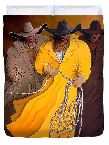 Three Cowboys Duvet Cover