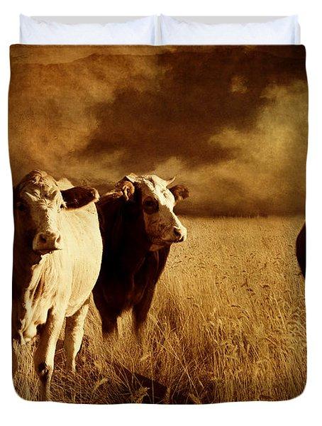 Three Cows Duvet Cover