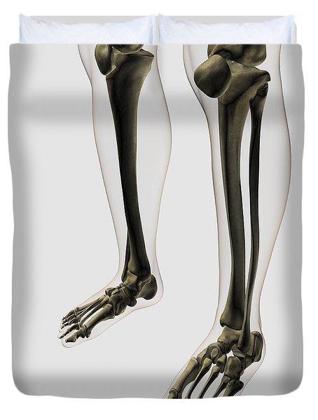 Three Dimensional View Of Human Leg Duvet Cover by Stocktrek Images