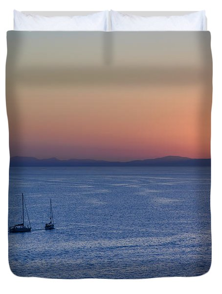 Duvet Cover featuring the photograph Three Dreams by Steven Sparks