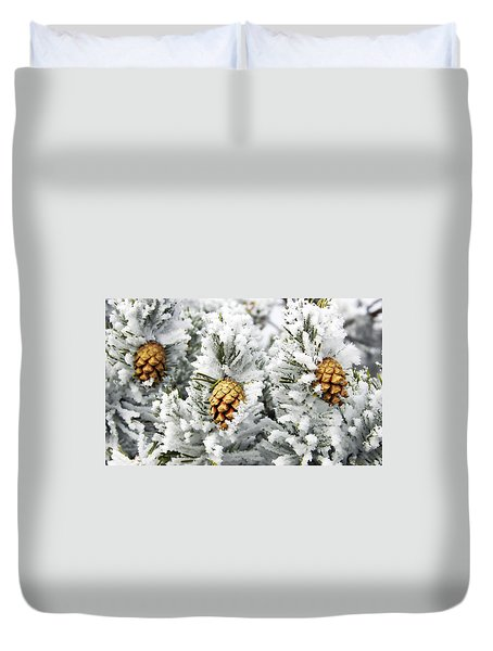 Three Frosty Cones Duvet Cover