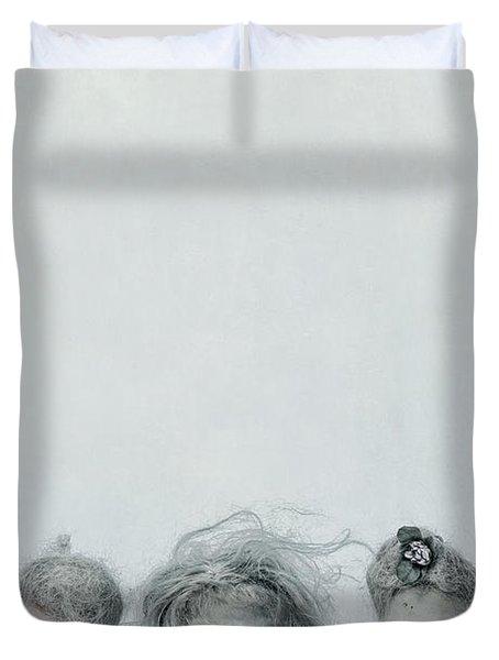 Three Heads Duvet Cover by Joana Kruse