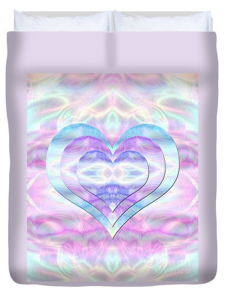 Three Hearts As One Duvet Cover