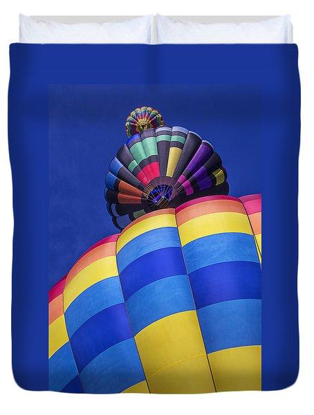 Three Hot Air Balloons Duvet Cover