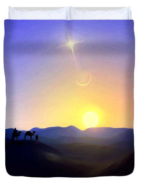 Three Kings Comet Duvet Cover