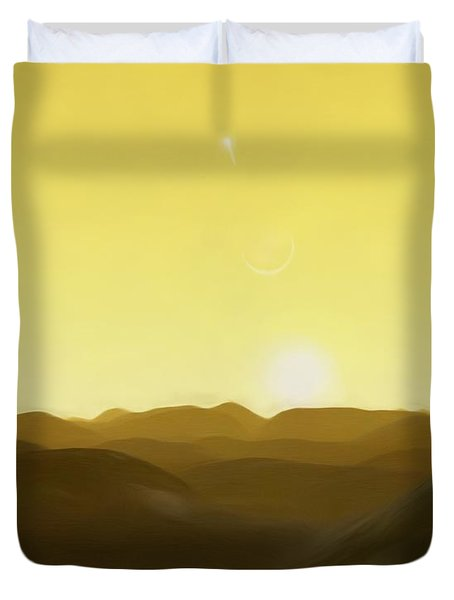 Duvet Cover featuring the painting Three Kings' Day by Pet Serrano