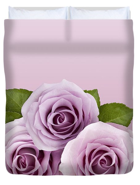 Three Lilac Roses Duvet Cover