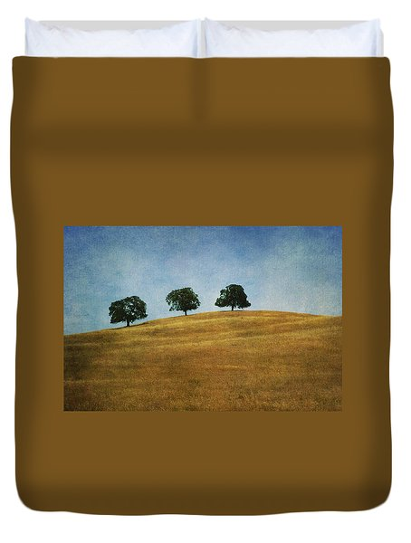 Three On A Hill Duvet Cover